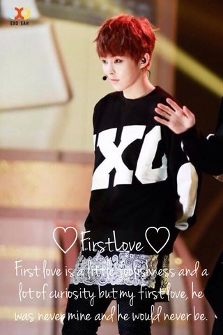 ♡FirstLove♡ First love is a little foolishness and a lot of curiosity but my first love, he was never mine and he would never be.