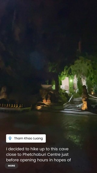 I decided to hike up to this cave close to Phetchaburi Centre just before opening hours in hopes of a solo experience. Aside from a couple monks, I was able to enjoy this beautiful temple without the echoing of voicing for 30 minutes, it was spectacular 🙌🏼