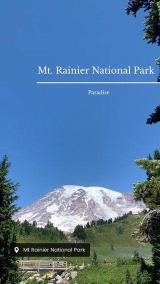 Mt. Rainier National Park Paradise