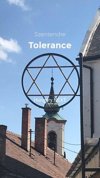 Tolerance Szentendre Hungary NEXT