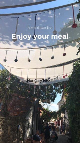 Enjoy your meal Szentendre Hungary NEXT