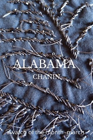 ALABAMA swatch of the month-march CHANIN