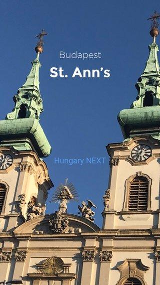 St. Ann's Budapest Hungary NEXT