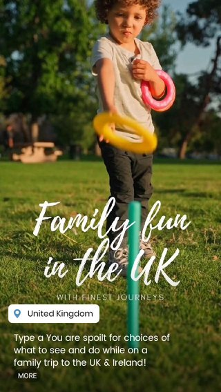 Type a You are spoilt for choices of what to see and do while on a family trip to the UK & Ireland! From archery, falconry, and horse riding to fishing, sailing, and kayaking - there's something to entertain the whole family in the UK. 🥰 Add in iconic cultural attractions 🏰 cosmopolitan cities 🏛️ and picturesque countryside 🌄 and you have the perfect luxury family vacation! Write to us today @finestjourneys and get inspired! #luxurytravel #tailormadetravel #familyvacation #traveltheworld #familytravel#travelwithkids#travelingwithkids#bucketlisttravel#familieswhotravel#familyfun#traveltips#uktravel#getoutdoors...