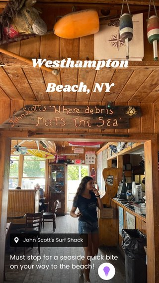 Westhampton Beach, NY Must stop for a seaside quick bite on your way to the beach!
