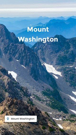 Mount Washington Summit of