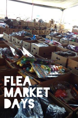 Flea market days