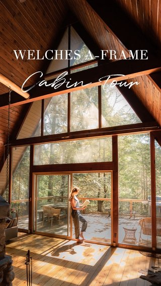 Cabin Tour WELCHES A-FRAME