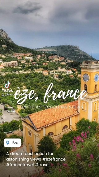 A dream destination for astonishing views #ezefrance #francetravel #travel