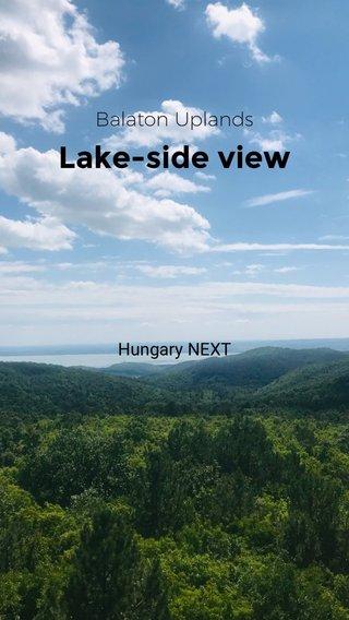 Lake-side view Balaton Uplands Hungary NEXT