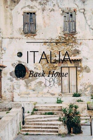 ITALIA Back Home
