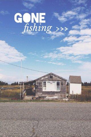 GONE >>> fishing