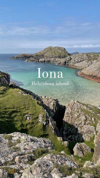 Iona Hebridean island
