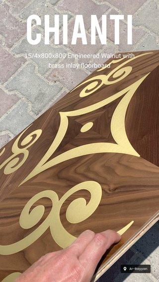 Chianti 15/4x800x800 Engineered Walnut with brass inlay floorboard