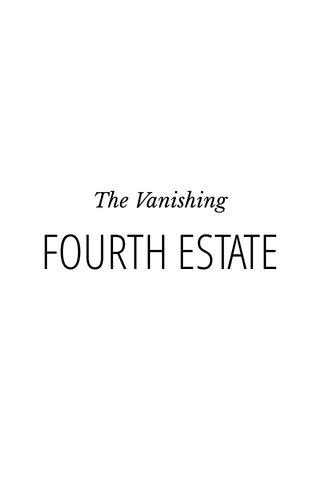 FOURTH ESTATE The Vanishing