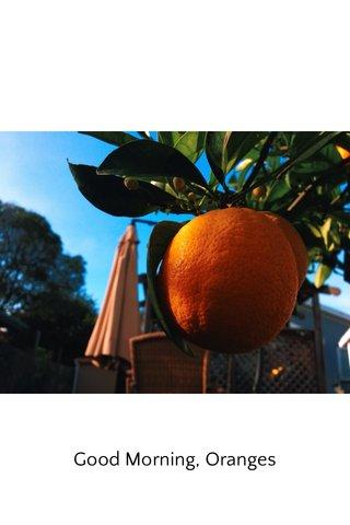 Good Morning, Oranges