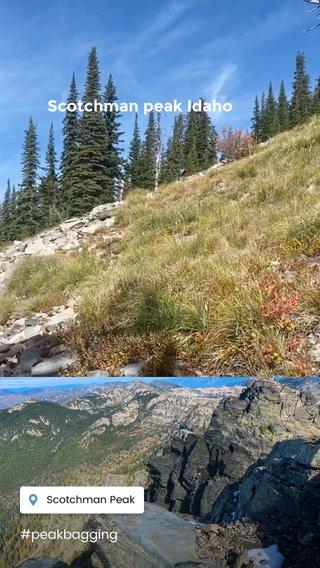 Scotchman peak Idaho #peakbagging