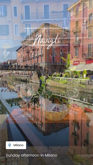 Navigli Sunday afternoon in Milano