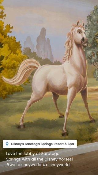 Love the lobby at Saratoga Springs with all the Disney horses! #waltdisneyworld #disneyworld
