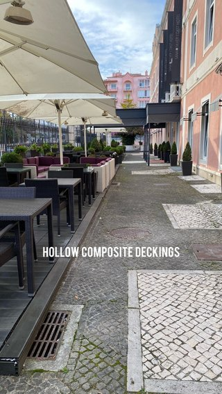 Hollow composite deckings