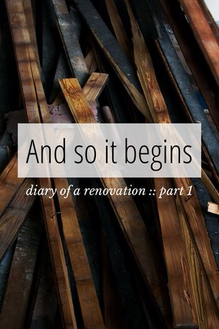 And so it begins diary of a renovation :: part 1
