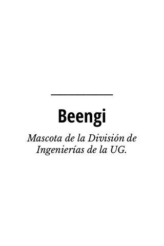 Beengi Mascota de la División de Ingenierías de la UG.
