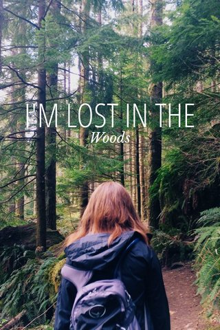 I'M LOST IN THE Woods