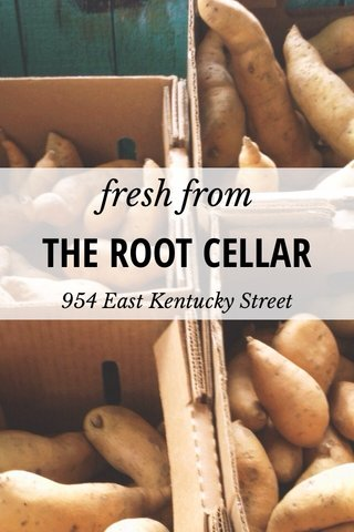 THE ROOT CELLAR fresh from 954 East Kentucky Street