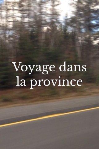 Voyage dans la province