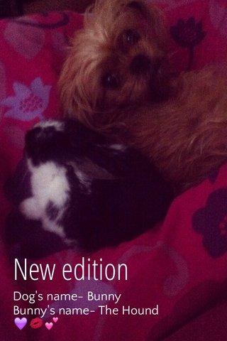 New edition Dog's name- Bunny Bunny's name- The Hound 💜💋💕