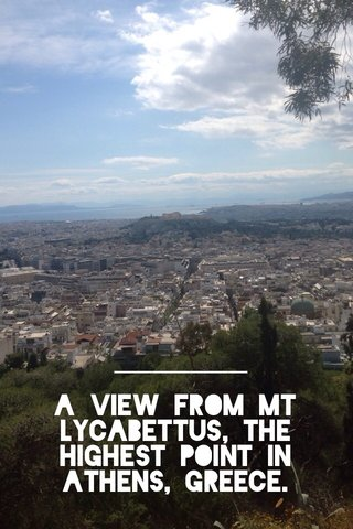 A view from Mt Lycabettus, the highest point in Athens, Greece.