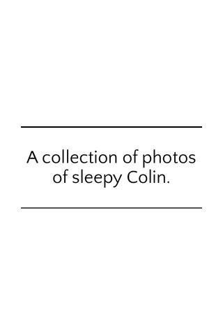 A collection of photos of sleepy Colin.