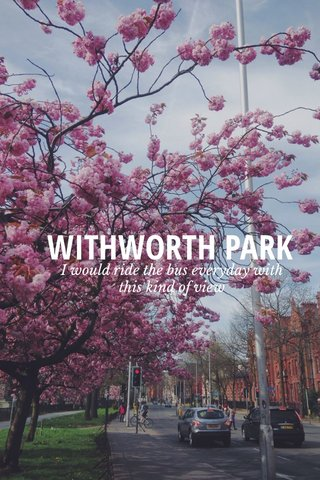 WITHWORTH PARK I would ride the bus everyday with this kind of view