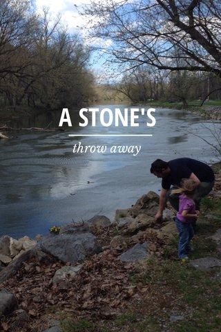 A STONE'S throw away