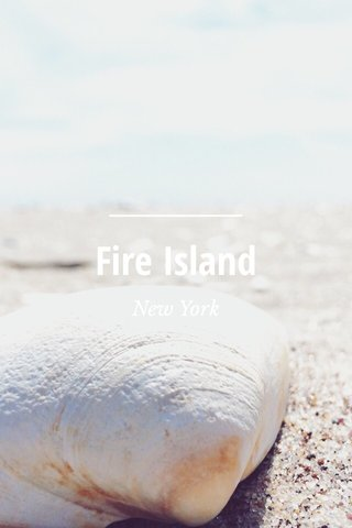 Fire Island New York