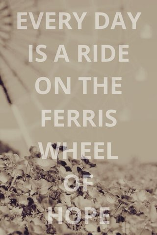 EVERY DAY IS A RIDE ON THE FERRIS WHEEL OF HOPE Veloro Bicycles, Inc