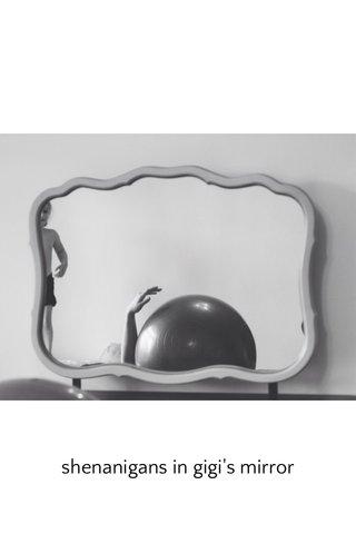 shenanigans in gigi's mirror
