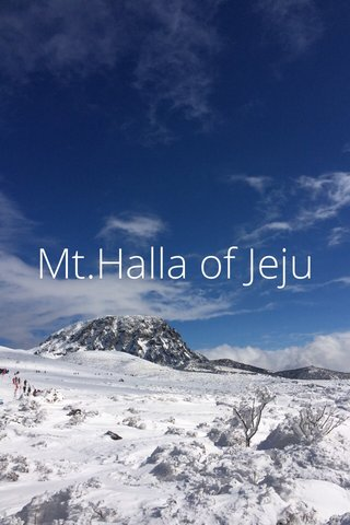 Mt.Halla of Jeju