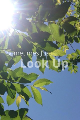 Look Up Sometimes Just