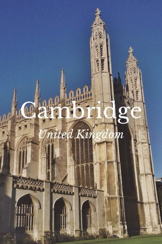 Cambridge United Kingdom