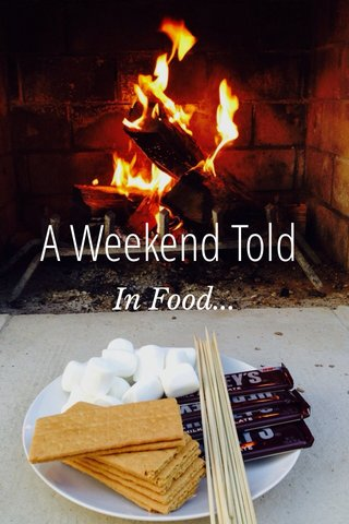 A Weekend Told In Food...