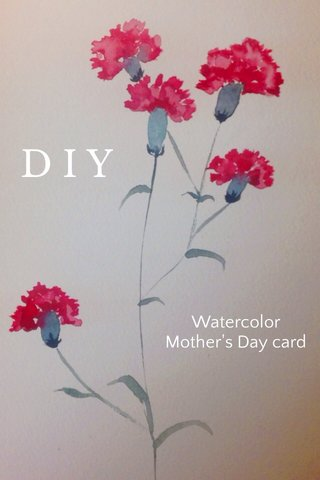 DIY Watercolor Mother's Day card