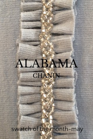 ALABAMA swatch of the month-may CHANIN