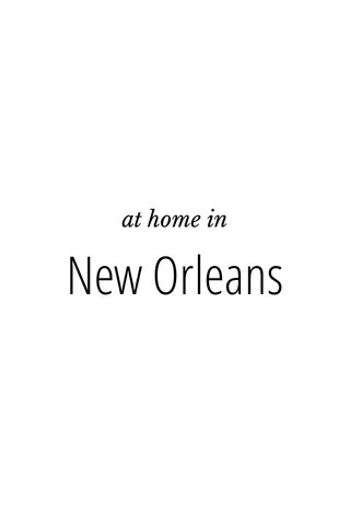 New Orleans at home in