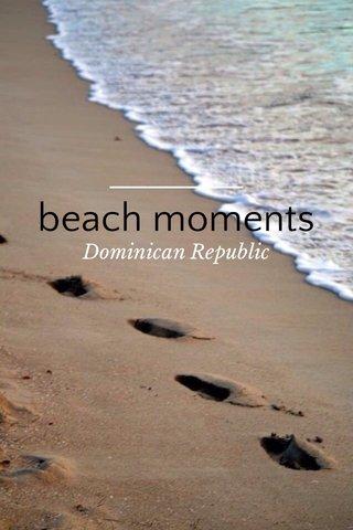 beach moments Dominican Republic