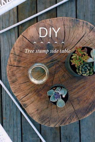 DIY ^^^^^ Tree stump side table