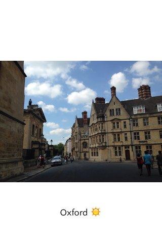 Oxford ☀️