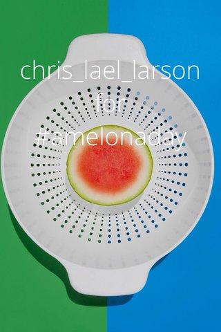 chris_lael_larson for #amelonaday