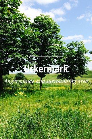 Uckermark Angermünde and surrounding area