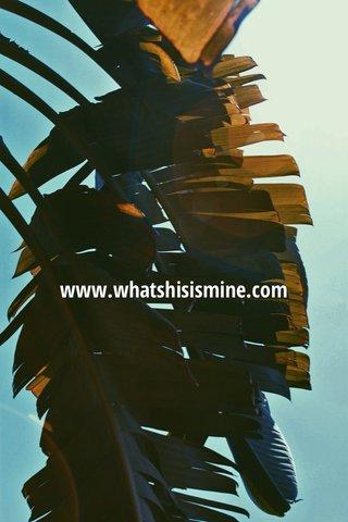 www.whatshisismine.com